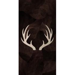 Tapis vinyle cerf rectangulaire, 99x198cm, collection Mountain Sélection, Pôdevache