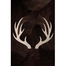 Tapis vinyle Cerf rectangulaire, 99x150cm, collection Mountain Sélection, Pôdevache