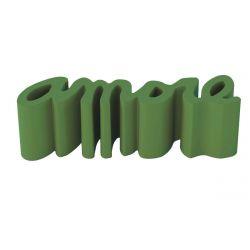 Banc Amore, Slide Design vert sauge mat