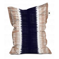 Pouf XXL Tie and Dye Rose et Bleu, 140x180cm, collection Ride or Dye, Pôdevache