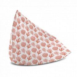 Coussin lounge avec poignée Mosaïque Rose saumon, 130x100cm, collection On dirait le sud, Pôdevache