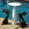 Mange-debout rond Hoplà, Slide design lumineux D69xH110 cm