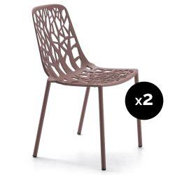 Lot de 2 chaises design Forest, Fast Maracuja
