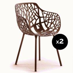 Lot de 2 fauteuils design Forest, Fast Maracuja