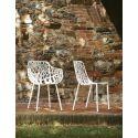 Lot de 2 chaises design Forest, Fast blanc crème