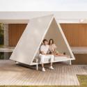 Lit de soleil design, Daybed Vineyard Vondom, avec toit, matelas inclinable