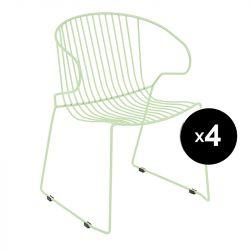 Lot de 4 fauteuils Bolonia, Isimar, vert pâle