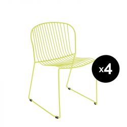 Lot de 4 chaises Bolonia, Isimar, jaune