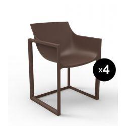 Lot de 4 chaises Wall Street, Vondom bronze