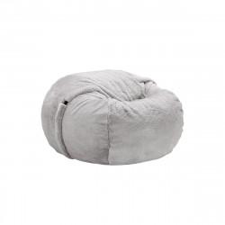 Pouf Vetsak, taille M, fausse fourrure grise, D110cm x H70 cm