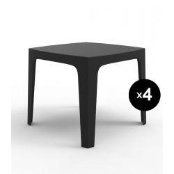 Lot de 4 tables Solid, Vondom noir