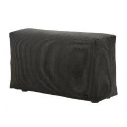 Module vertical pour le canapé Vetsak, velour cotelé gris foncé