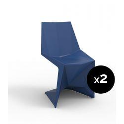 Lot de 2 chaises Voxel futuristes, Vondom navy