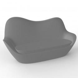 Sofa Sabinas, Vondom gris argent, coussins Silvertex gris argent