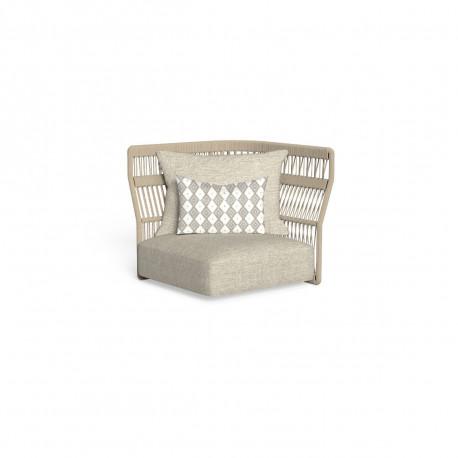 Canapé module d'angle, dossier en corde Cliff, Talenti beige
