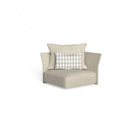 Canapé module d'angle, dossier en tissu Cliff, Talenti beige