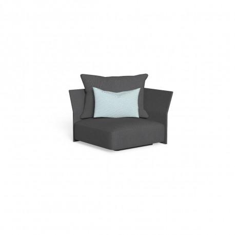 Canapé module d'angle, dossier en tissu Cliff, Talenti gris