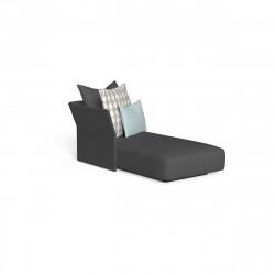Méridienne modulaire angle droit, dossier en tissu Cliff, Talenti gris
