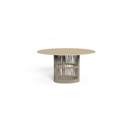 Table à manger ronde Cliff six places, Talenti beige diamètre 140 cm