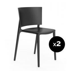 Set de 2 chaises Africa, Vondom noir
