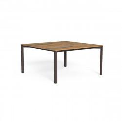 Table à manger Casilda, Talenti moka 150 x 150 cm
