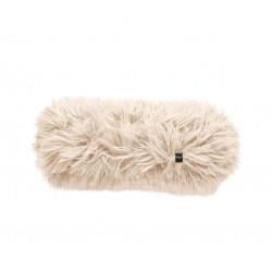 Coussin Noodle pillow 42 x 16 cm, pour canapé Vetsak, fausse fourrure à poils longs beige