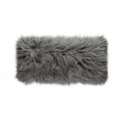Coussin Pillow 60 x 30 cm, pour canapé Vetsak, fausse fourrure à poils longs gris