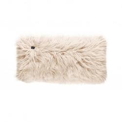 Coussin Pillow 60 x 30 cm, pour canapé Vetsak, fausse fourrure à poils longs beige
