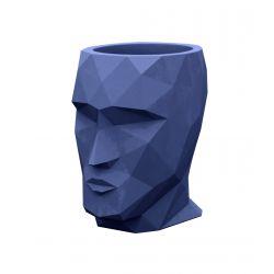 Petit pot Nano Adan bleu marine laqué brillant, 13 x 17 x Hauteur 18 cm, Vondom bleu marine