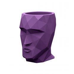Petit pot Nano Adan violet prune laqué brillant, 13 x 17 x Hauteur 18 cm, Vondom violet prune