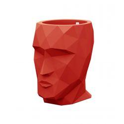 Petit pot Nano Adan rouge laqué brillant, 13 x 17 x Hauteur 18 cm, Vondom rouge