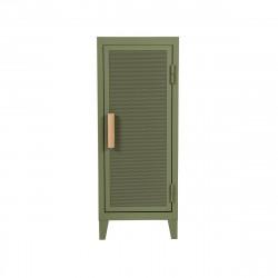 Colonne de rangement B1 bas perforé, Vert olive, Tolix, 40 x 40 x H102 cm