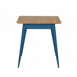 Table 55 Plateau Chêne, Bleu océan, Tolix, 70 X 70 X H74 cm