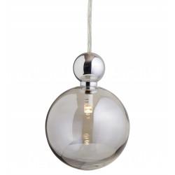 Suspension Uva, Ebb&Flow, gris fumé, diamètre 10 cm, câble transparent, boule en laiton argenté