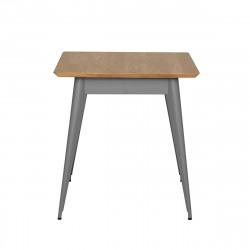 Table 55 Plateau Chêne, Gris souris, Tolix, 70 X 70 X H74 cm