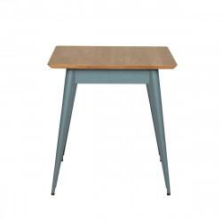 Table 55 Plateau Chêne, Vert lichen, Tolix, 70 X 70 X H74 cm