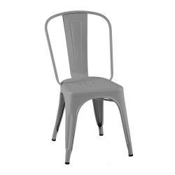 Lot de 2 chaises A Brillant, Tolix gris souris