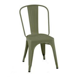 Lot de 2 chaises A Brillant, Tolix vert olive