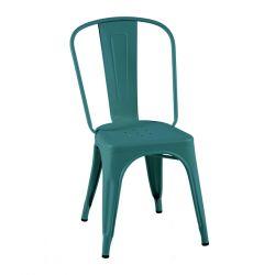 Lot de 2 chaises A Brillant, Tolix vert canard