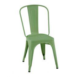 Lot de 2 chaises A Inox Brillant, Tolix vert menthe