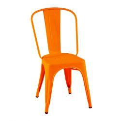 Lot de 2 chaises A Inox Brillant, Tolix potiron