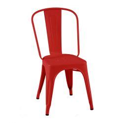 Lot de 2 chaises A Inox Brillant, Tolix piment