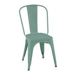Lot de 2 chaises A Inox Brillant, Tolix vert lichen