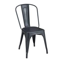Lot de 2 chaises A Inox Brillant, Tolix graphite