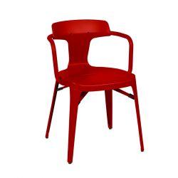 Chaise T14 Inox Brillant, Tolix piment