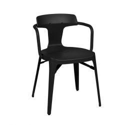Chaise T14 Inox Brillant, Tolix noir
