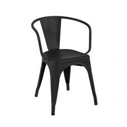 Fauteuil A56 Brillant, Tolix graphite