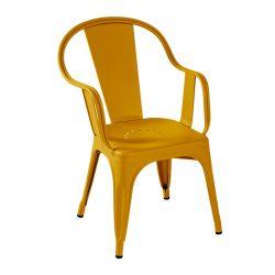 Fauteuil C Brillant, Tolix jaune moutarde