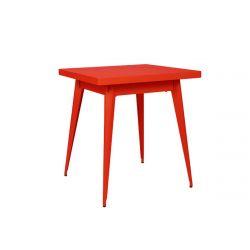 Table 55 Brillant, Tolix poivron 70x70 cm