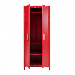 Rangement vestiaire B2 haut perforé, rouge poivron, fine texture, Tolix, 80 x 50 x H192,5 cm